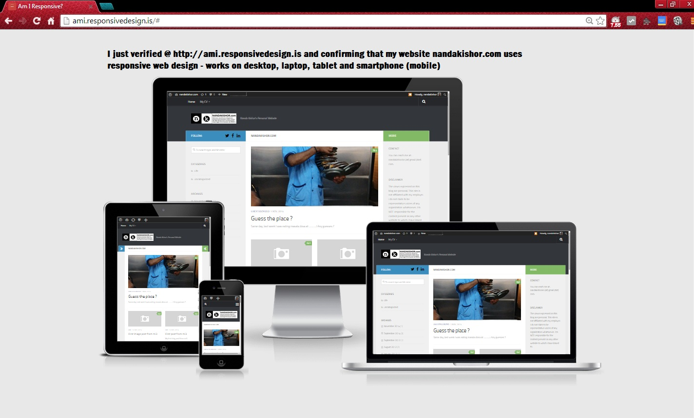 My website uses responsive design now